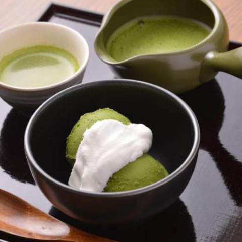 sweets made with Sayama green tea